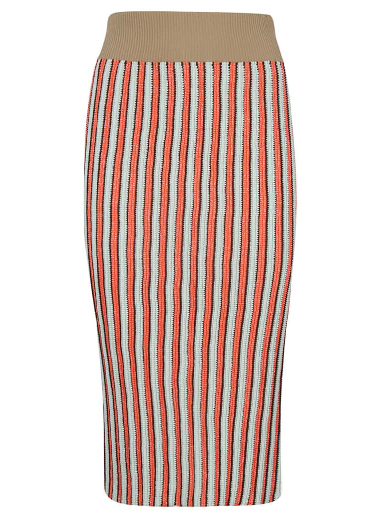 Circus Hotel Striped Pencil Skirt - Multicolor