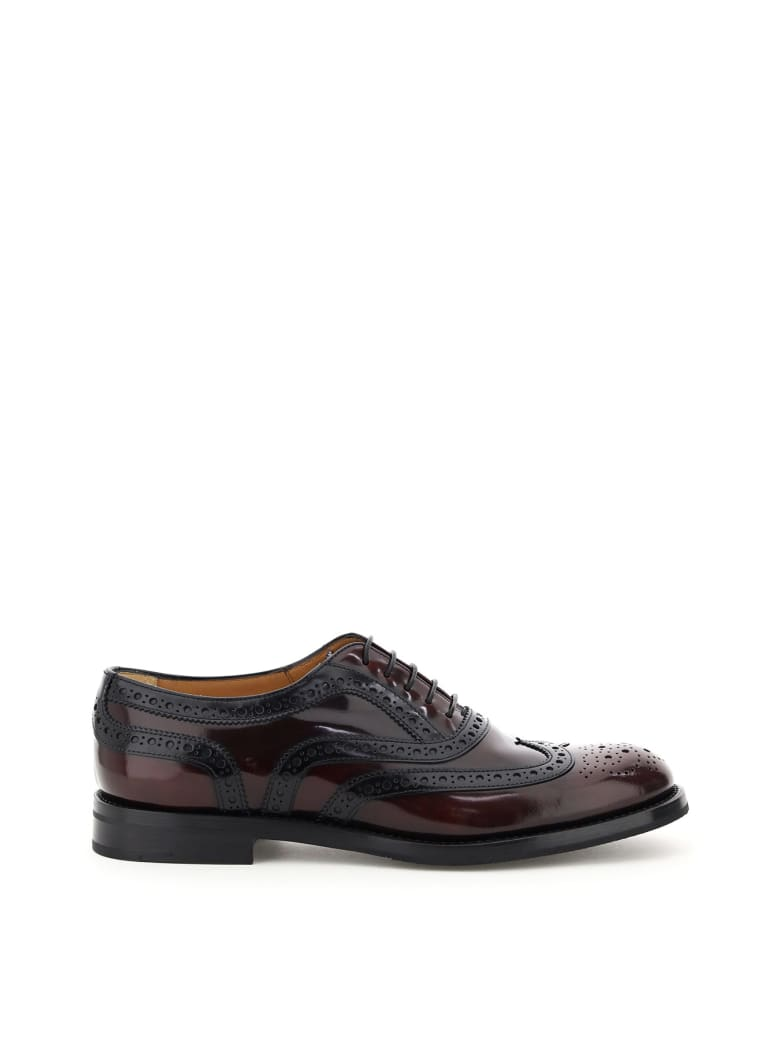 Church's Burwood 5 Brogue Shoes - LT BURGUNDY BLACK (Purple)