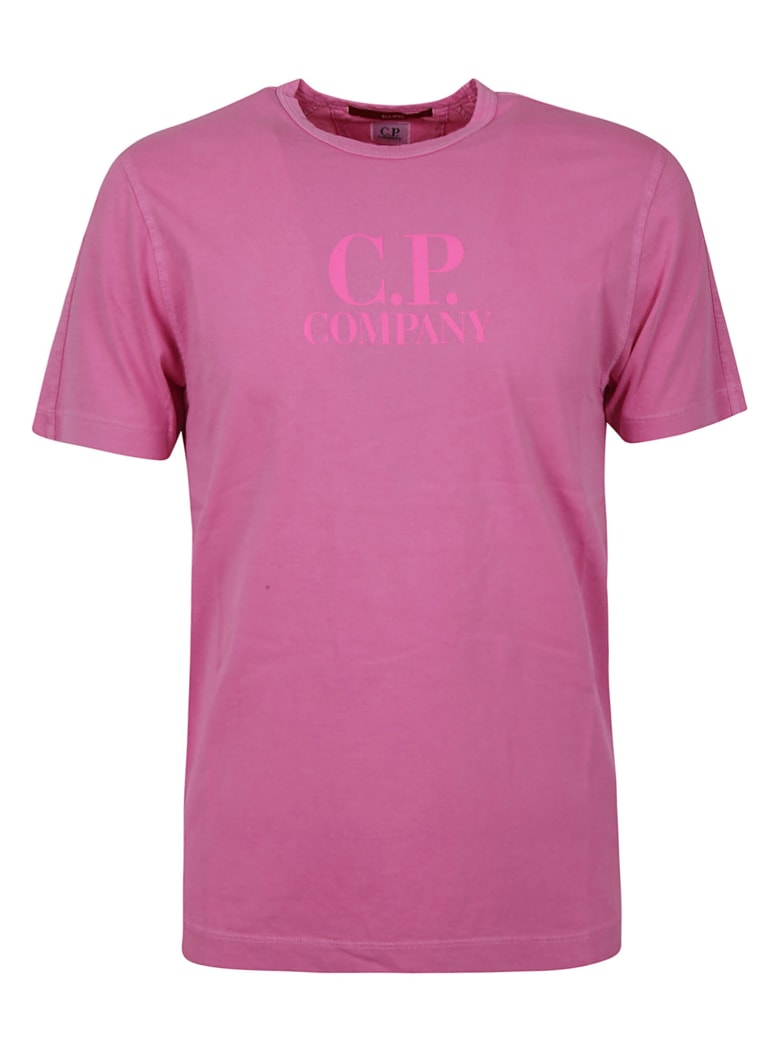 C.P. Company Logo Print T-shirt - Pink fluo