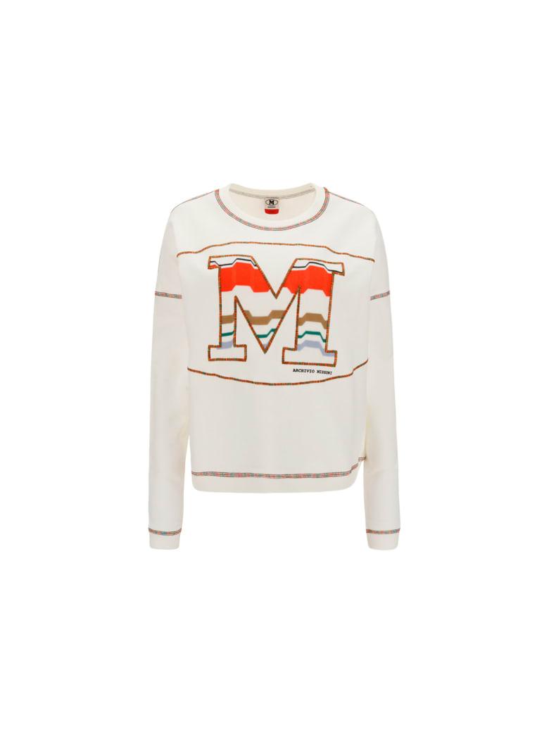 M Missoni Sweatshirt - Bianco