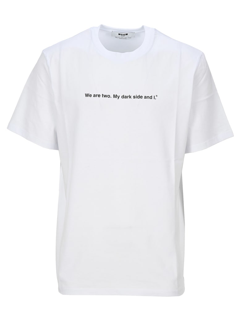 MSGM Quote T-shirt - WHITE