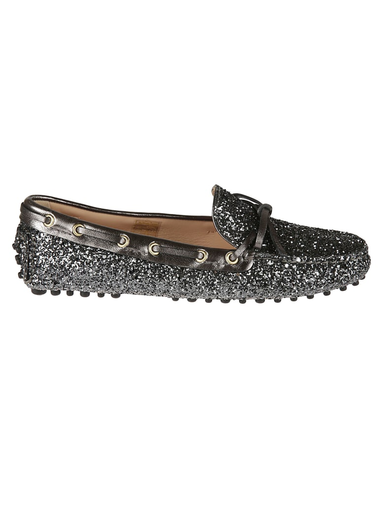 Car Shoe Glitter Applique Loafers - Ardesia