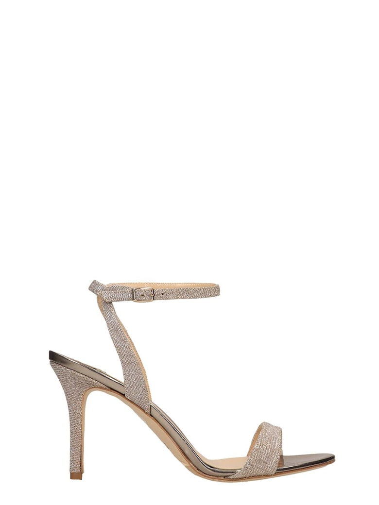 The Seller Champagne Canvas Sandals - gold