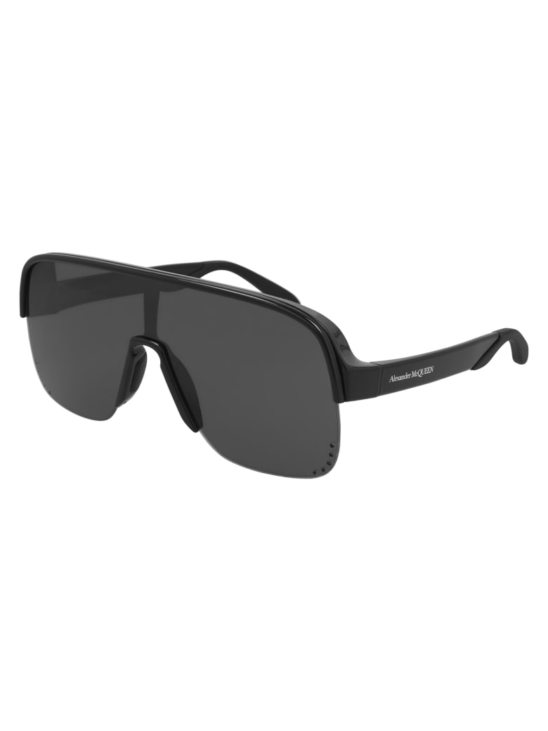 Alexander McQueen AM0294S Sunglasses - Black Black Grey