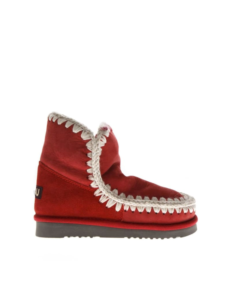 Mou Red Eskimo 18 Shearling Boots - Red