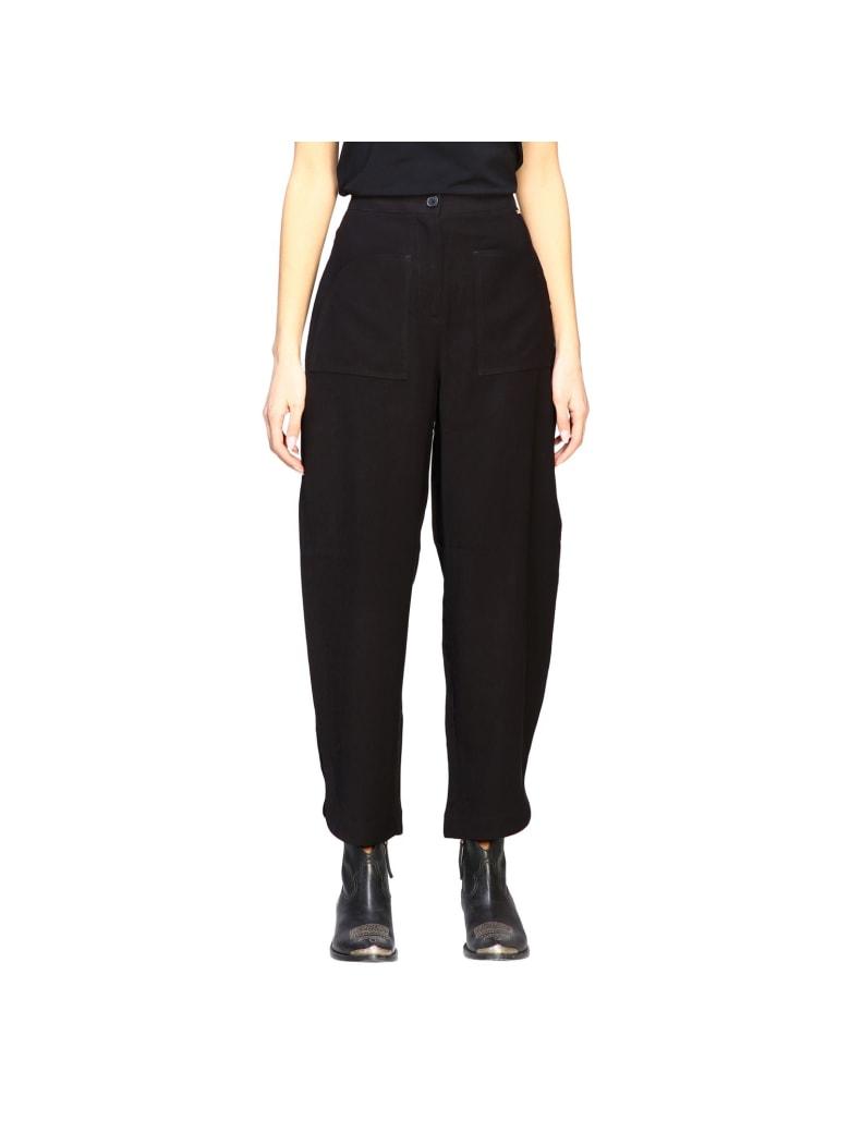 Armani Collezioni Armani Exchange Pants Armani Exchange Wide Trousers - black