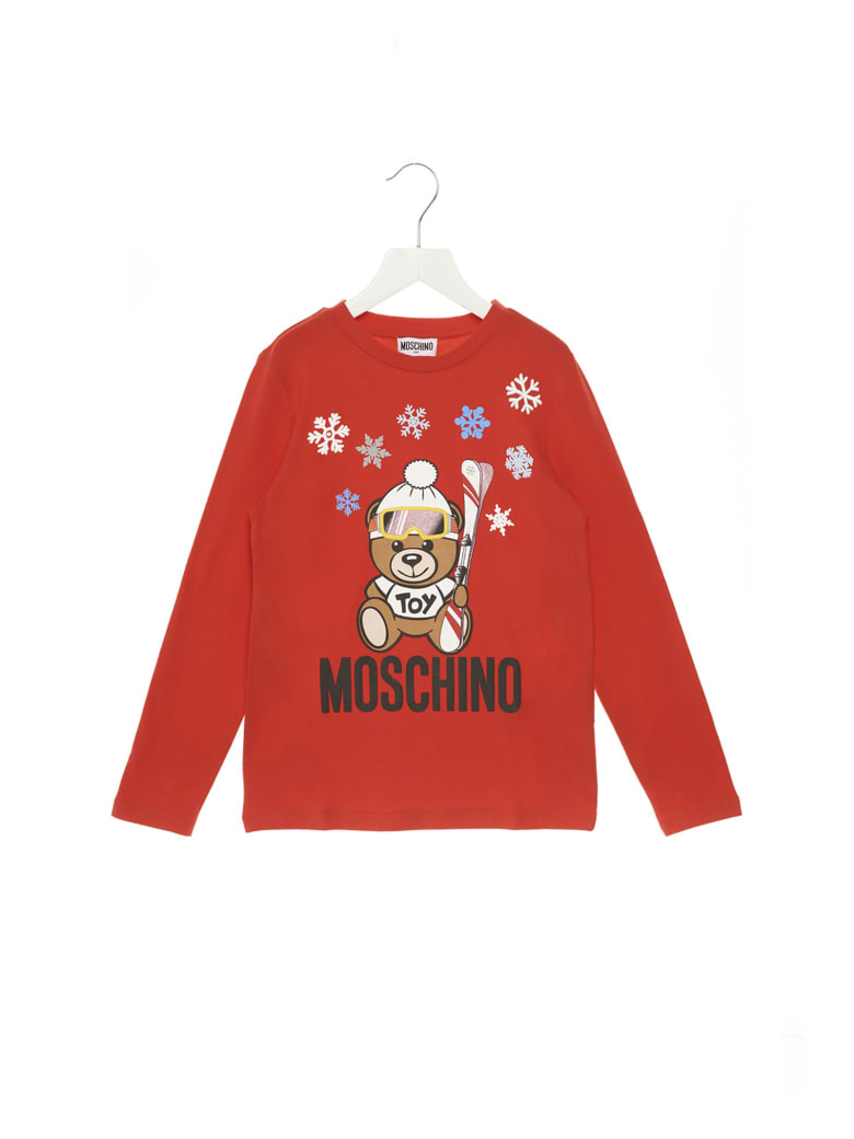Moschino 'teddy Snow' T-shirt - Red