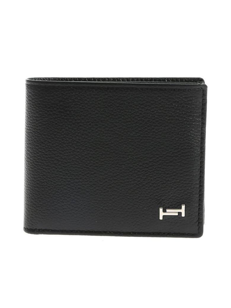 Tod's Double T Plaque Classic Bifold Wallet - Black