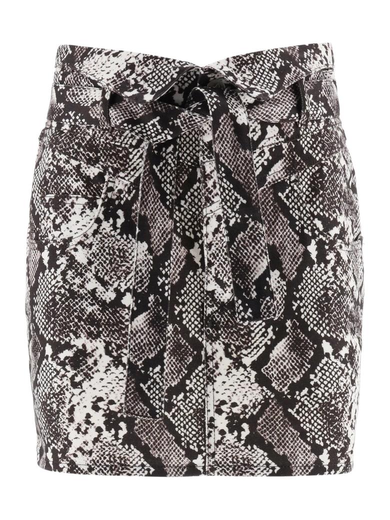 The Attico Python Print Mini Skirt