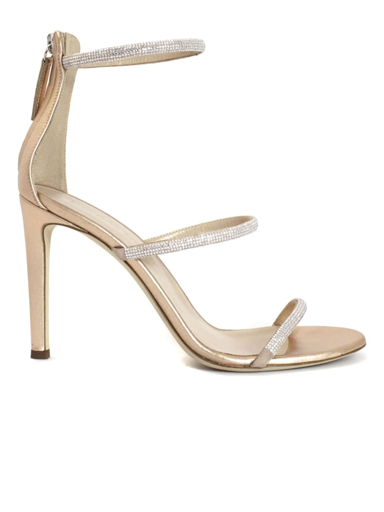 Giuseppe Zanotti Harmony Copper Suede Sandals - Rame