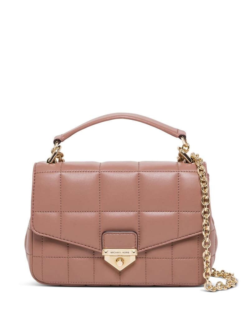 MICHAEL Michael Kors Soho Small Crossbody Bag In Quilted Leather - Beige