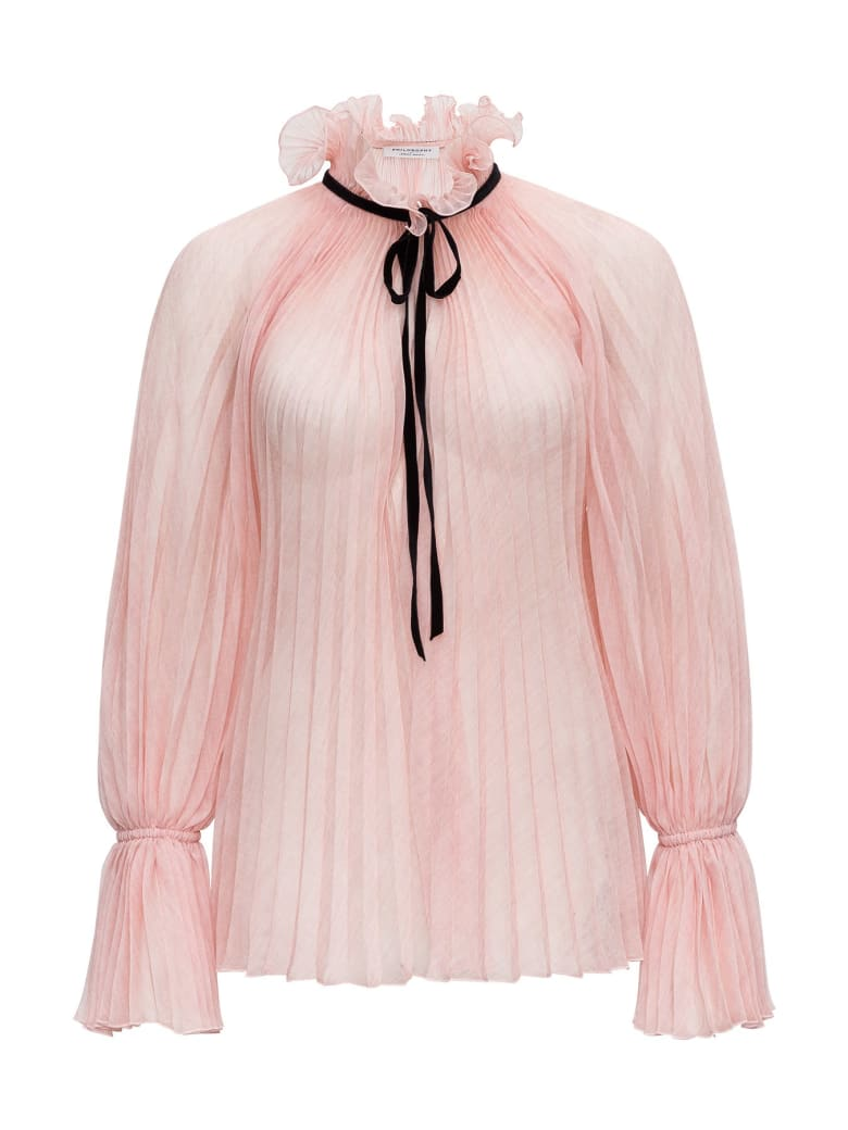 Philosophy di Lorenzo Serafini Pleated Nylon Shirt - Pink