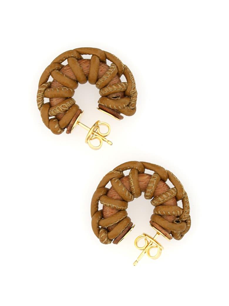 Bottega Veneta Earrings - Camel