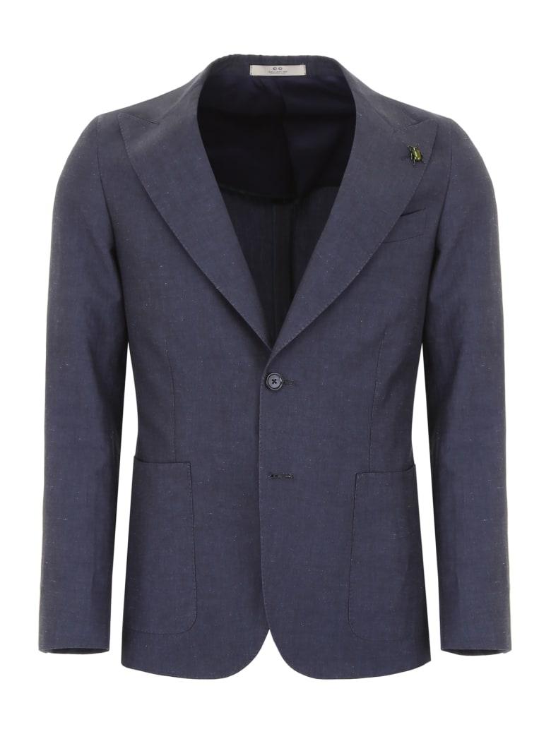 CC Collection Corneliani Blazer With Peak Lapels - NAVY (Blue)