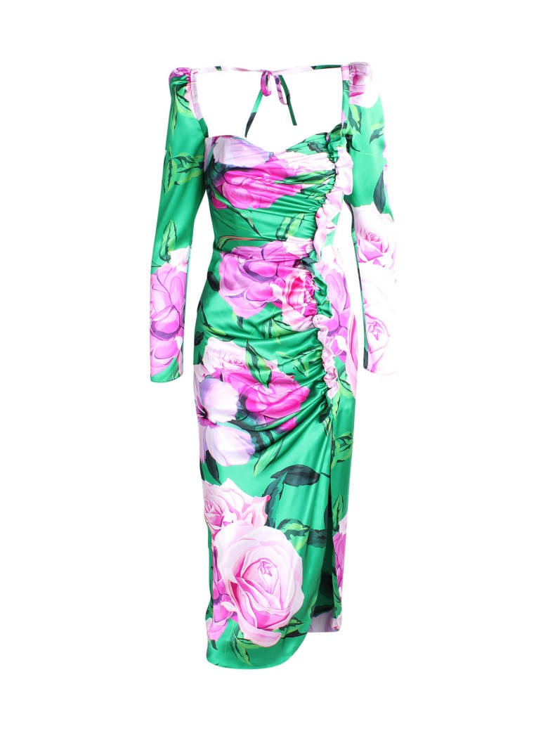 Giuseppe di Morabito Silk Dress - Print Green