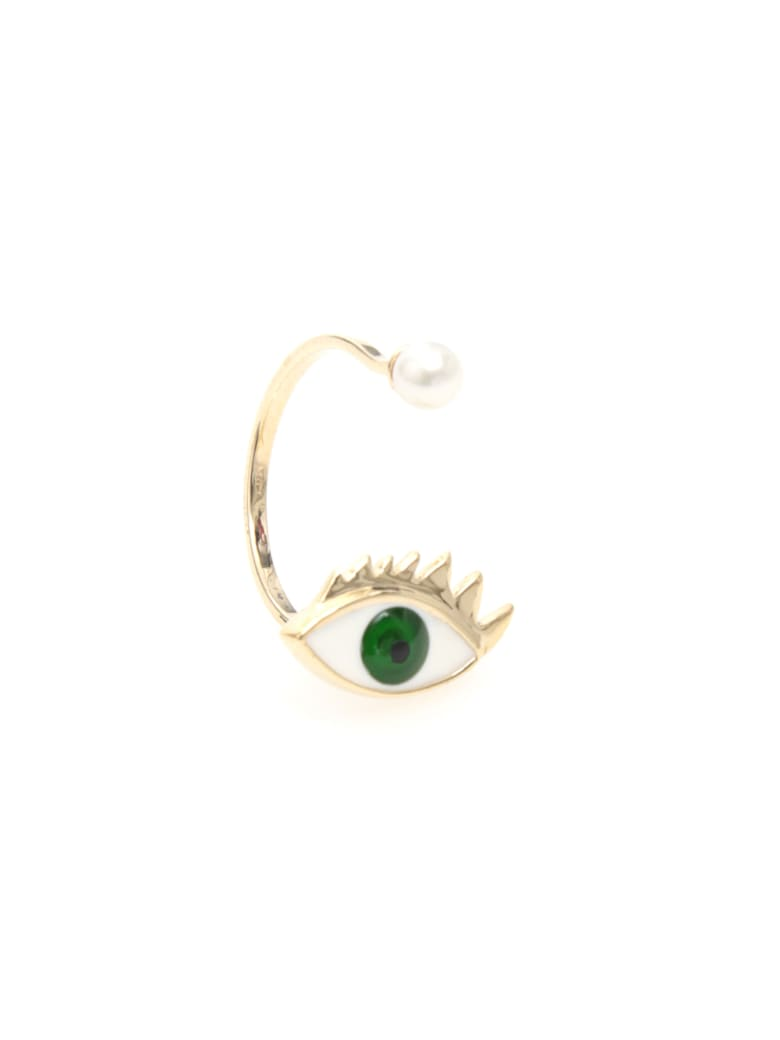 Delfina Delettrez Eye Ring 9kt Gold - GREEN (Green)