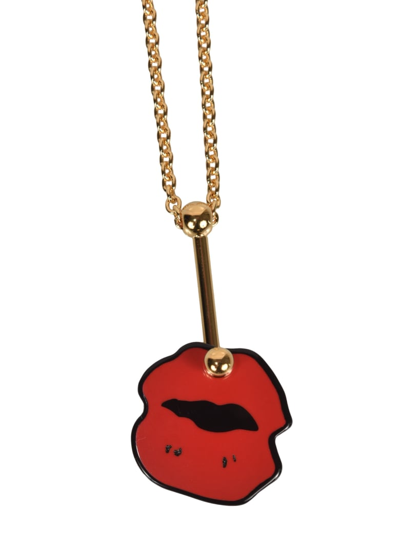 Marni Kiss Mark Necklace - Red
