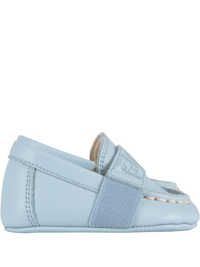 Fendi Light Blue Slip-on For Baby Boy - Light Blue