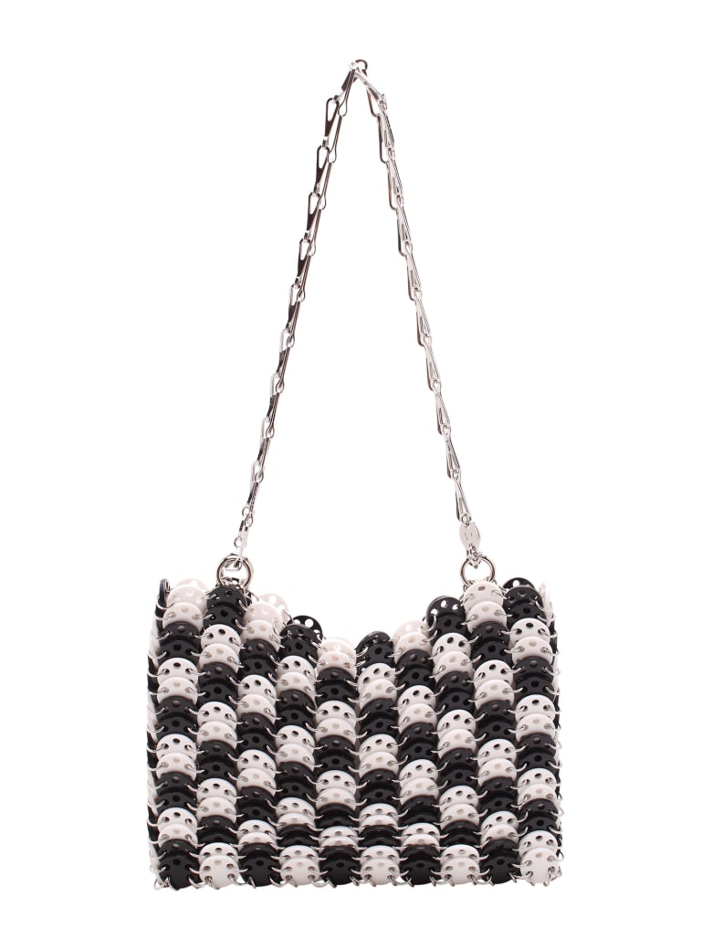 Paco Rabanne '1969' Plexi Shoulder Bags - Black White