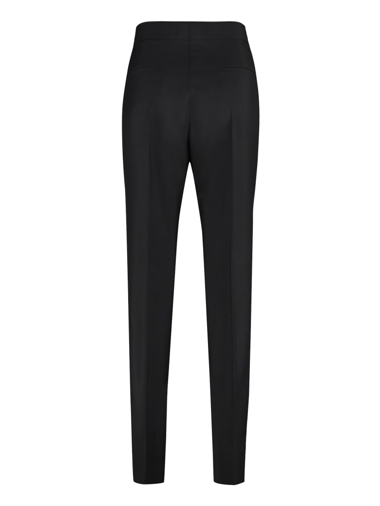 Givenchy Wool Blend Tailored Trousers - black