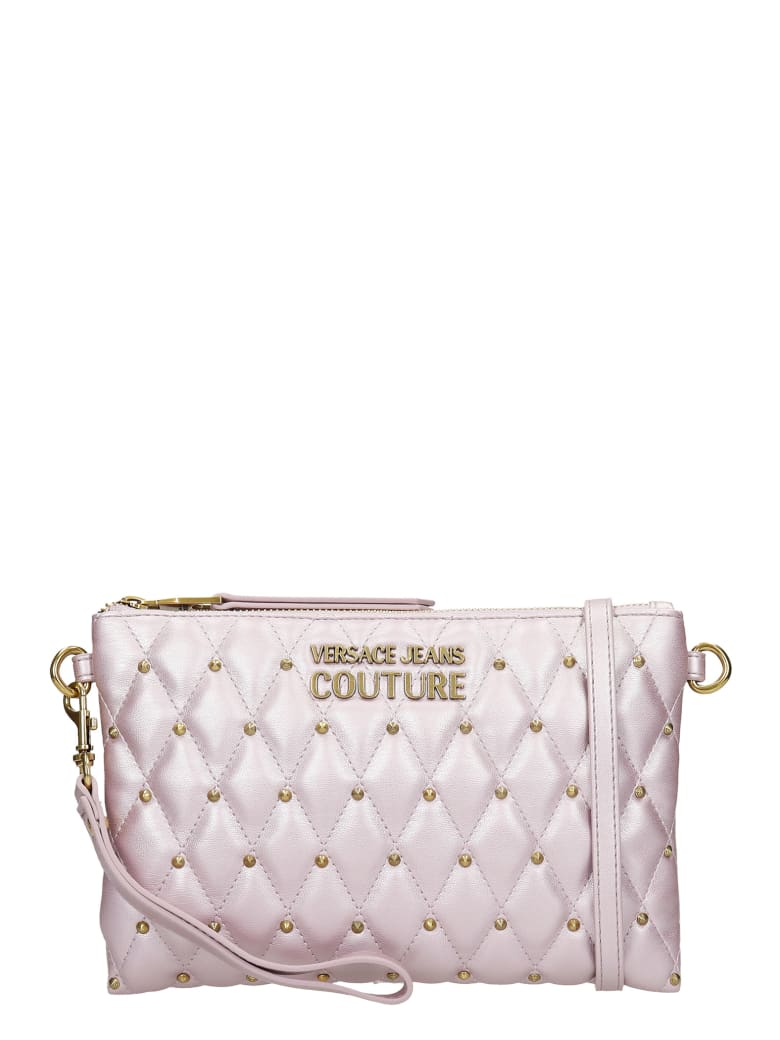 Versace Jeans Couture Clutch In Viola Leather - Viola