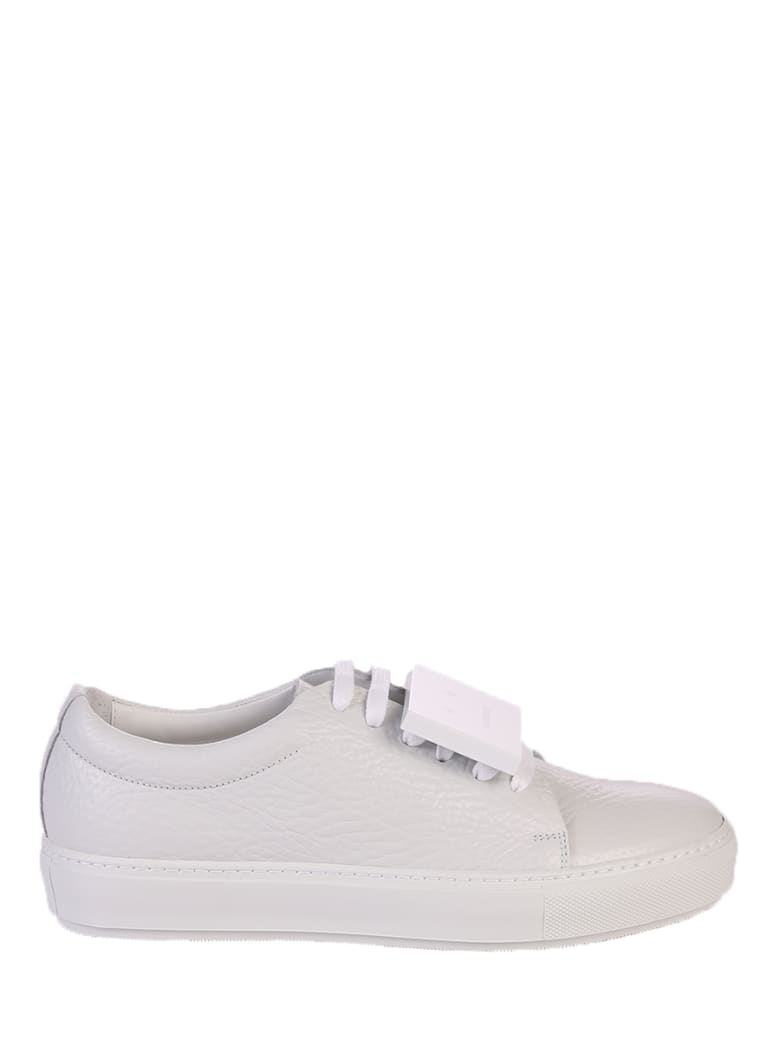 Acne Studios White Lace Up Sneakers - White