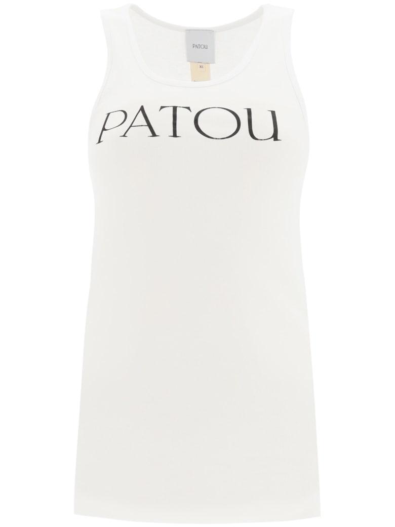 Patou Tank Top With Logo Print - WHITE (White)