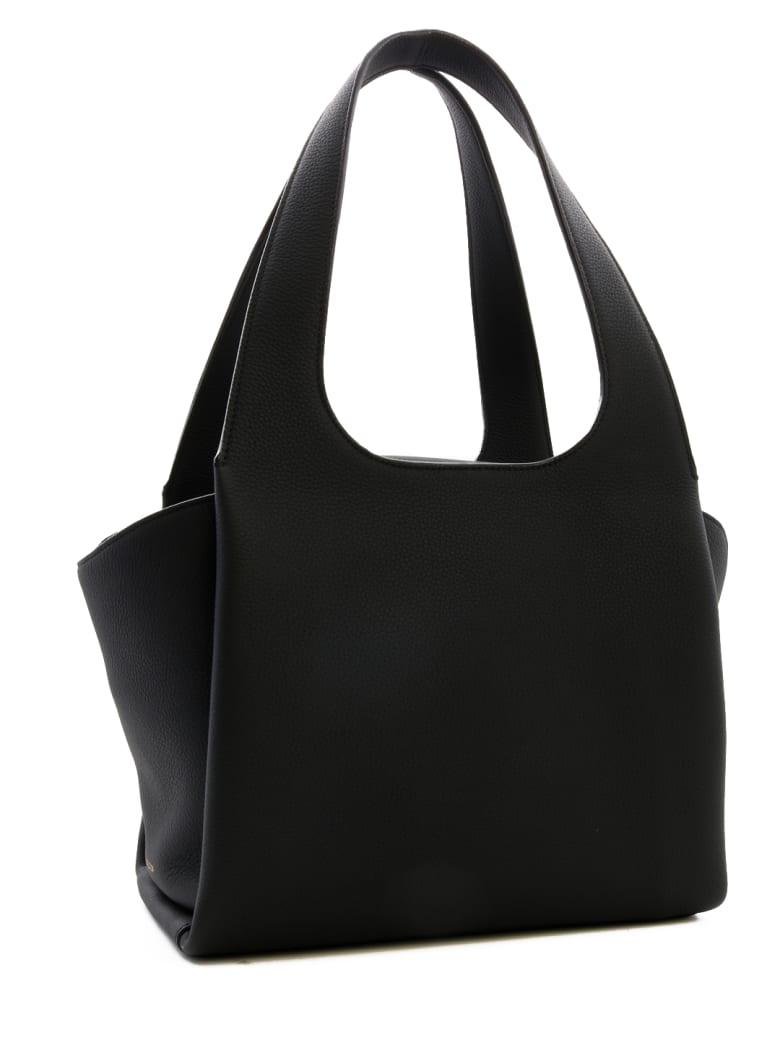 The Row Tr1 Leather Bag - Black