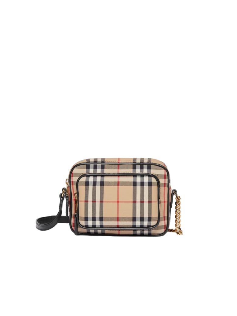 Burberry Sm Camera Bag Hod Double Zip - Archive Beige