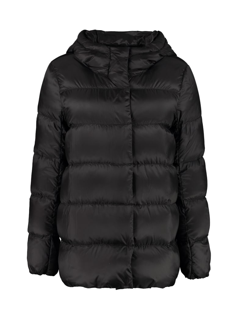 Max Mara The Cube Seicar Down Jacket With Snaps - black