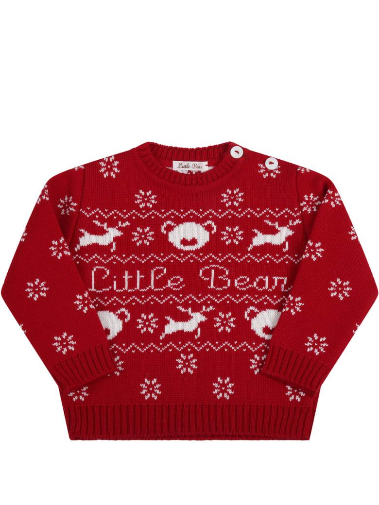 Little Bear Red Sweater For Babykids - Red