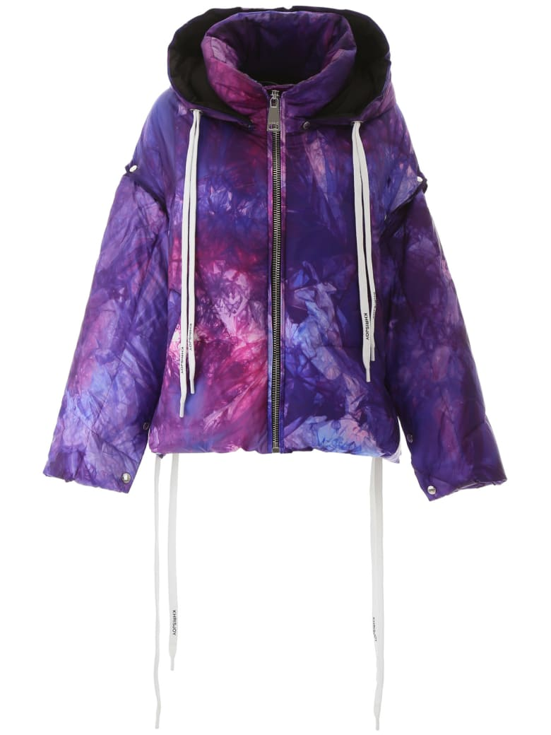 Khrisjoy Khris Puffer Jacket With Removable Sleeves - VIOLET TIE DYE (Purple)