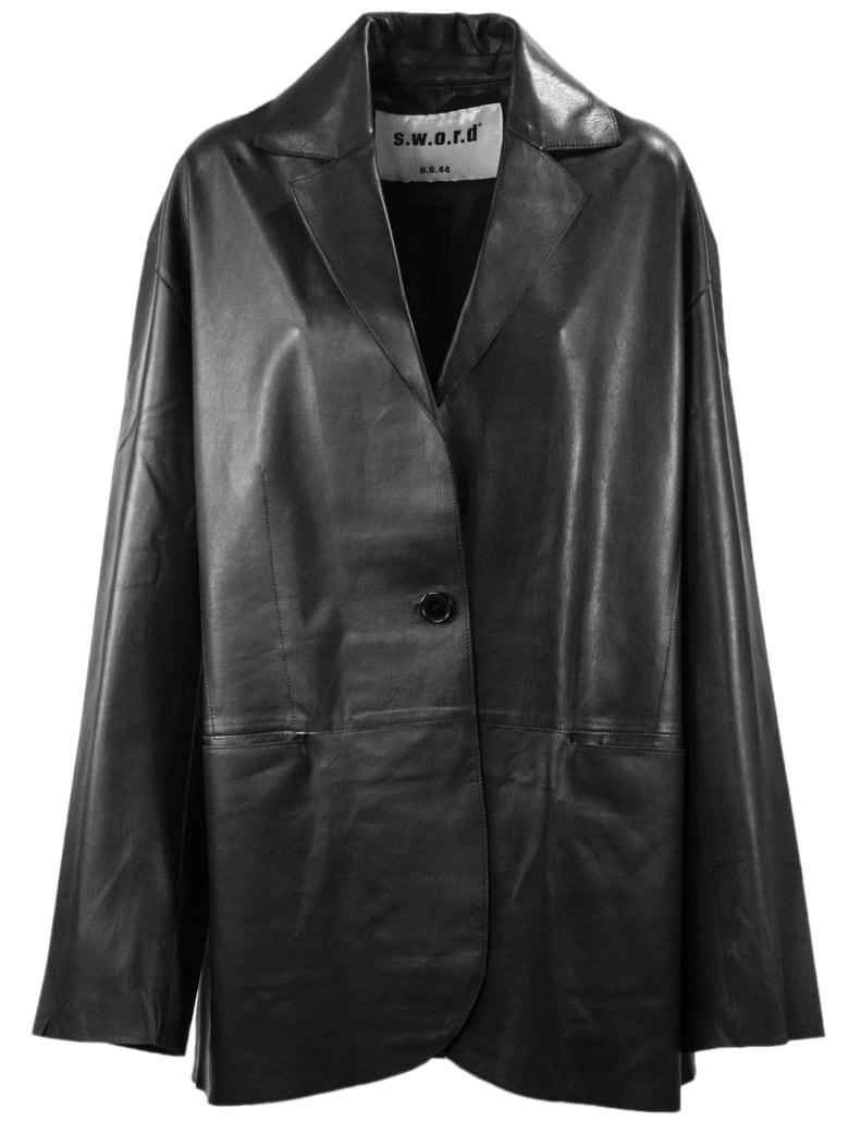 S.W.O.R.D 6.6.44 Black Leather Jacket - Black