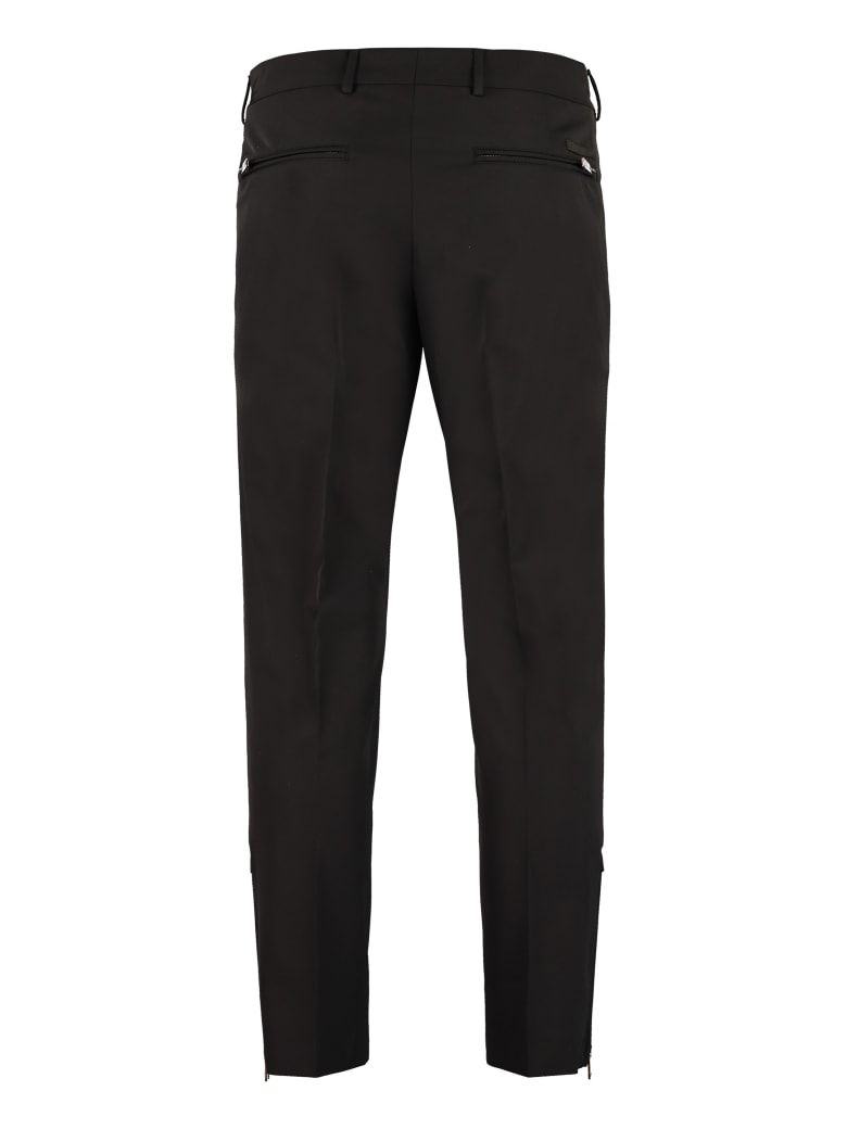 Prada Techno Fabric Tailored Trousers - black