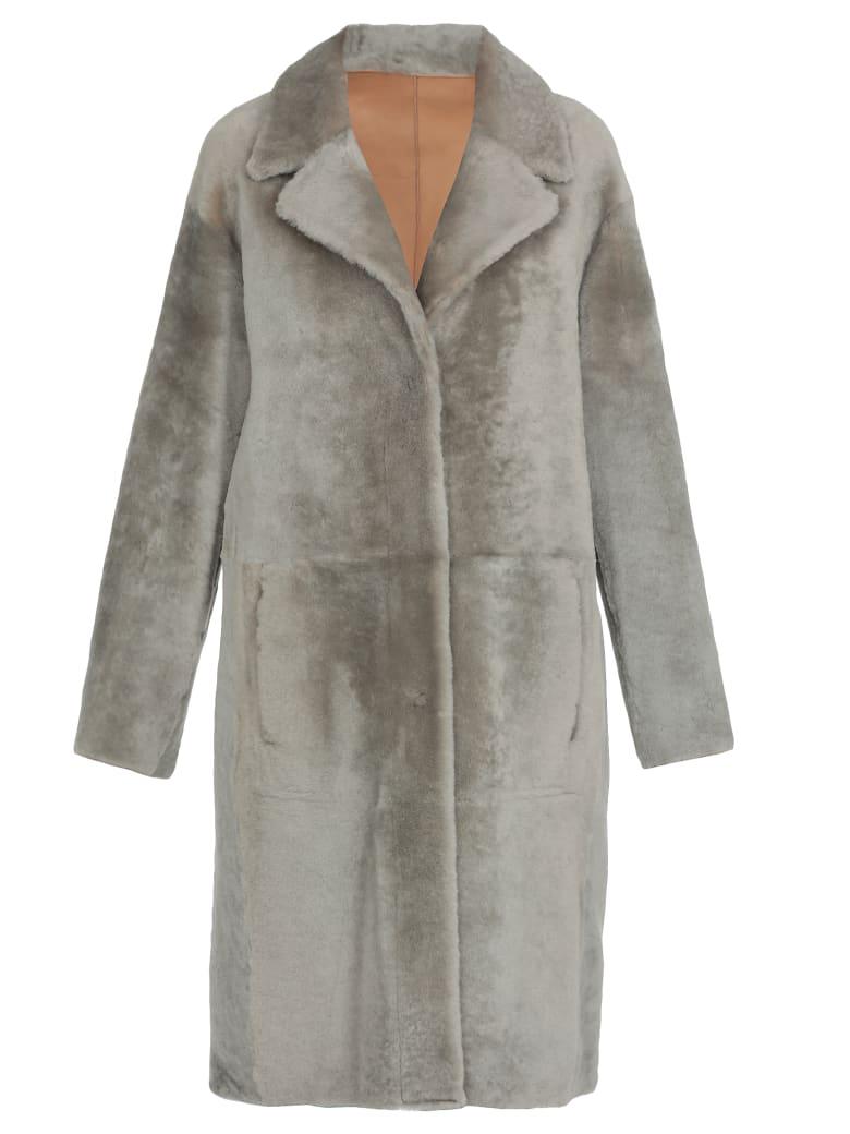 DROMe Leather Coat - GREY