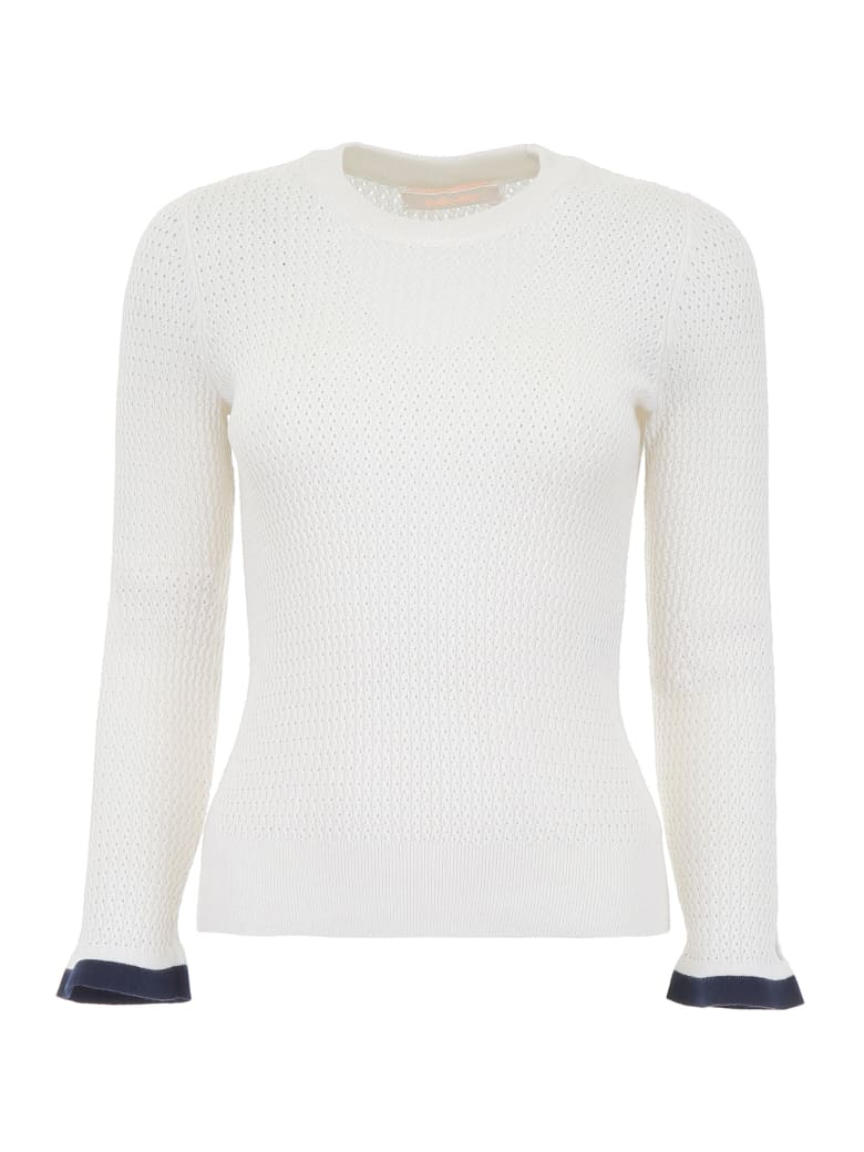 See by Chloé Perforated Knit Top - ICONIC MILK (White)