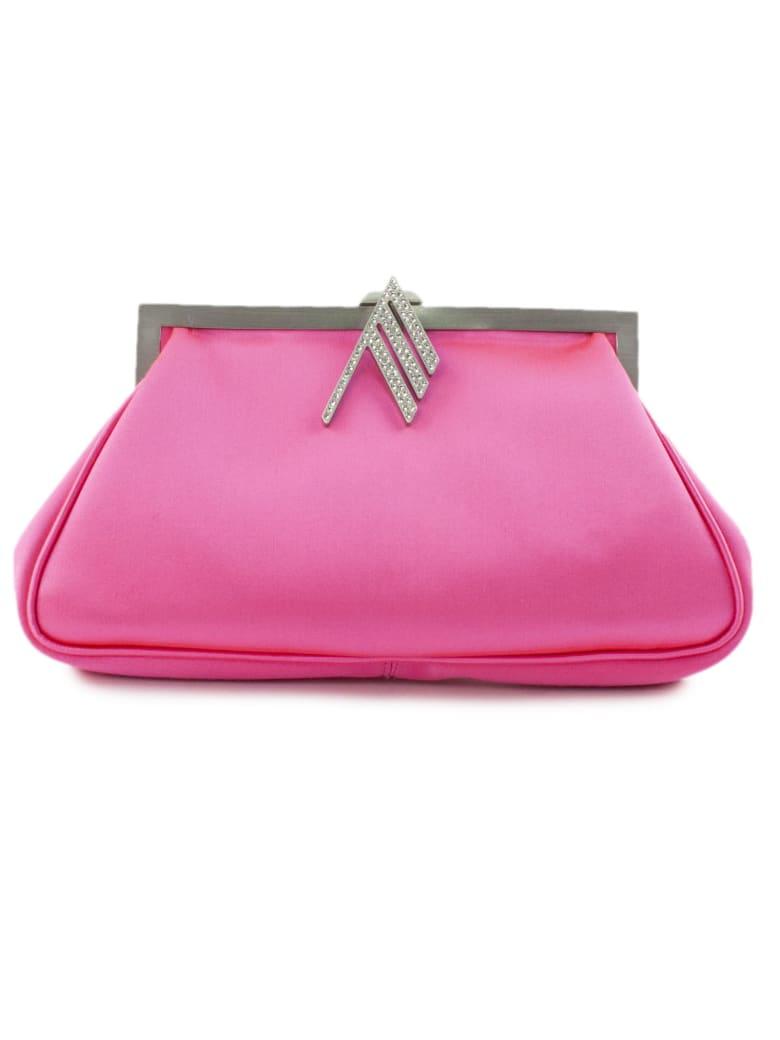 The Attico Handbag In Fuchsia Fabric - Fuxia