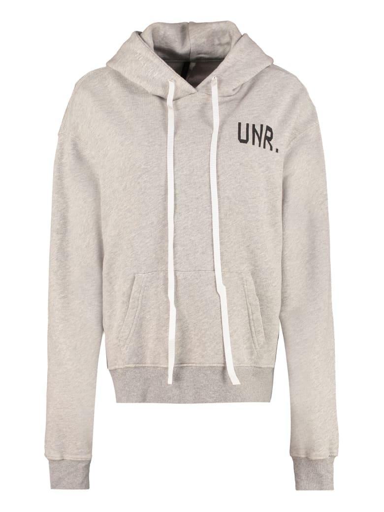 Ben Taverniti Unravel Project Cotton Hoodie - grey