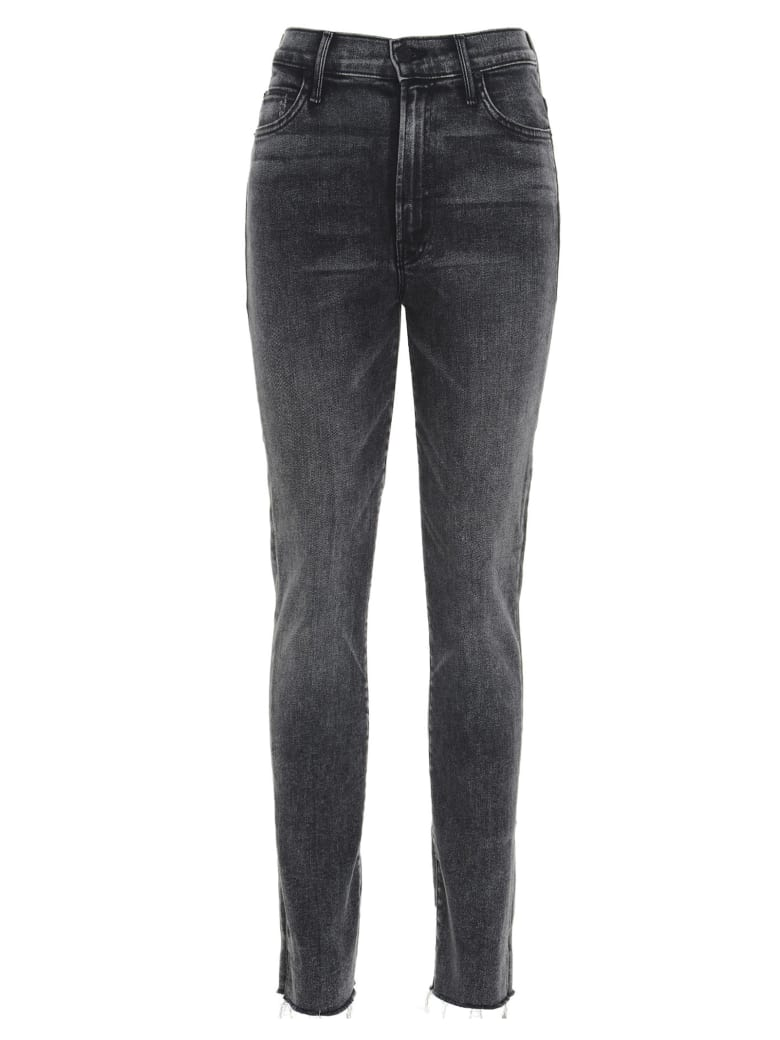Mother 'high Waisted Rascal Ankle Snip' Jeans - Grey