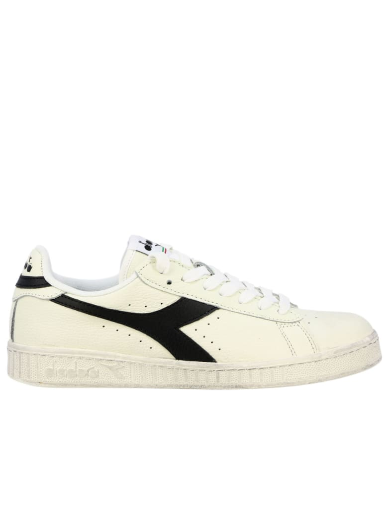 Diadora Sneakers Diadora Game L Low Waxed Sneakers In Textured Leather - white 1