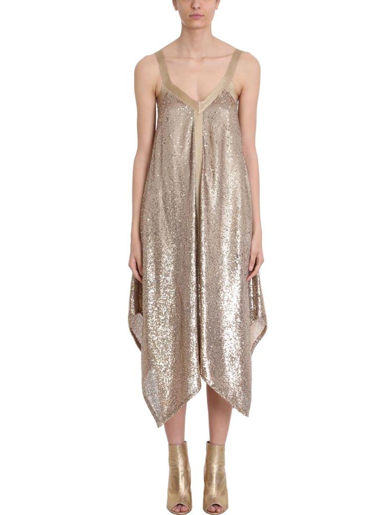 L'Autre Chose Gold Sequins And Lurex Dress - gold
