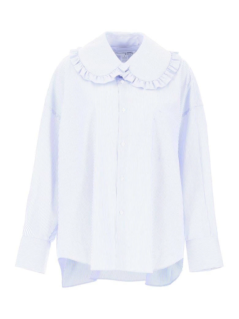 Comme des Garçons Shirt Boy Striped Shirt - STRIPE (White)