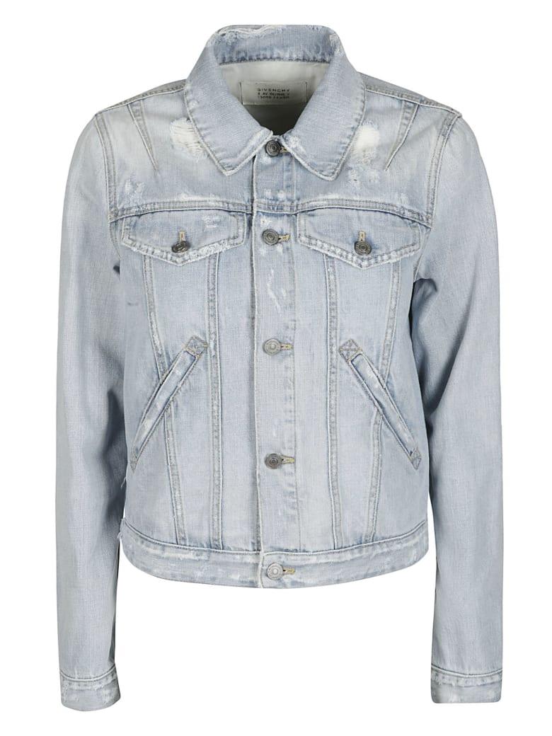 Givenchy Light Blue Cotton Denim Jacket - LIGHT BLUE