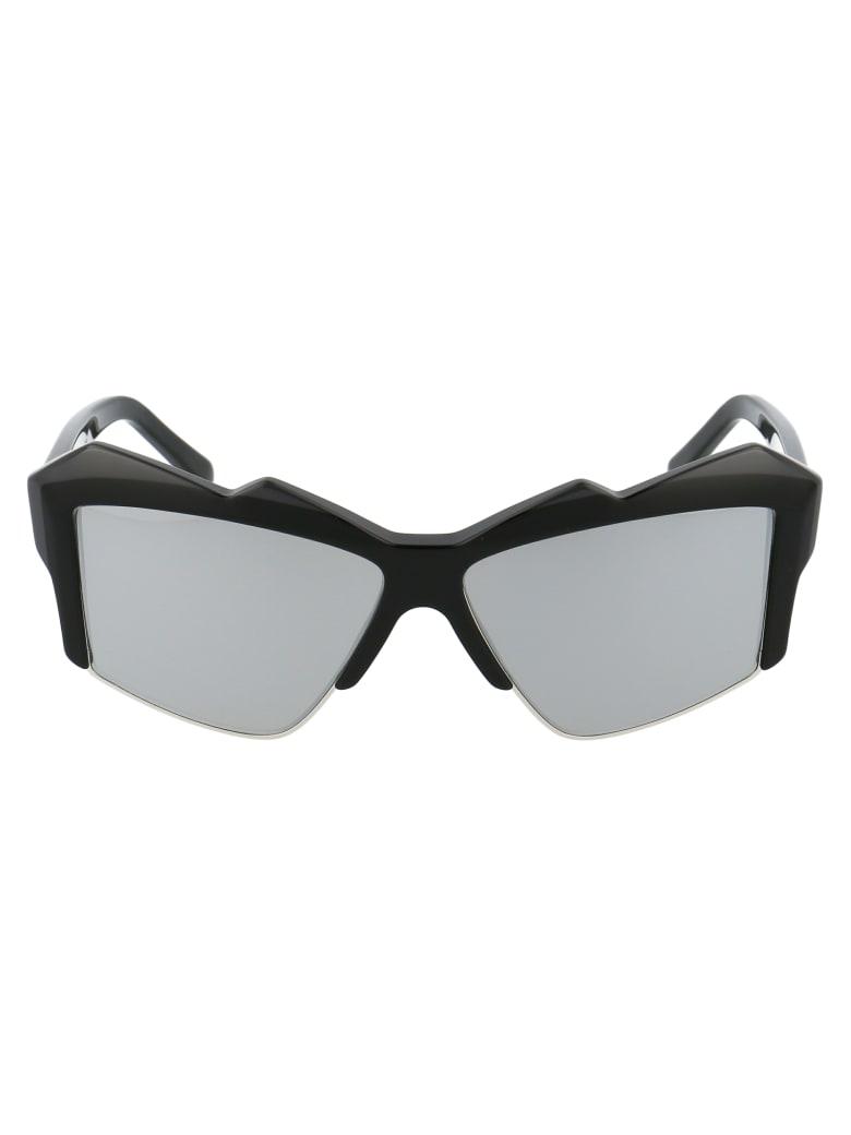 Philipp Plein 000 Wes0091 Pte003n Sunglasses - CKXC BLACK SILVER MIRROR BLACK