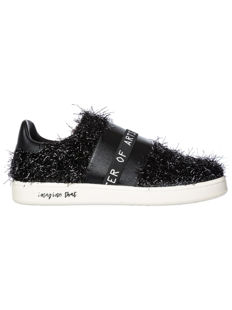 M.O.A. master of arts Moa Master Of Arts Gallery Furry Slip-on Shoes - Nero