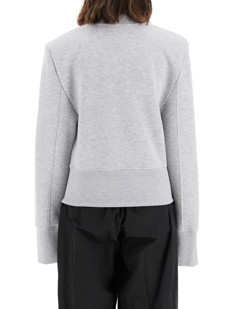 The Attico Kenna Sweatshirt With Shoulder Pads - Melange