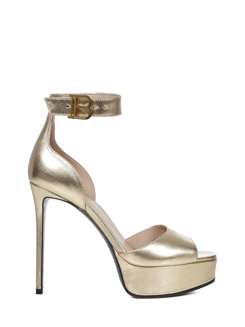 Balmain Paris Saveria Sandals - Gold