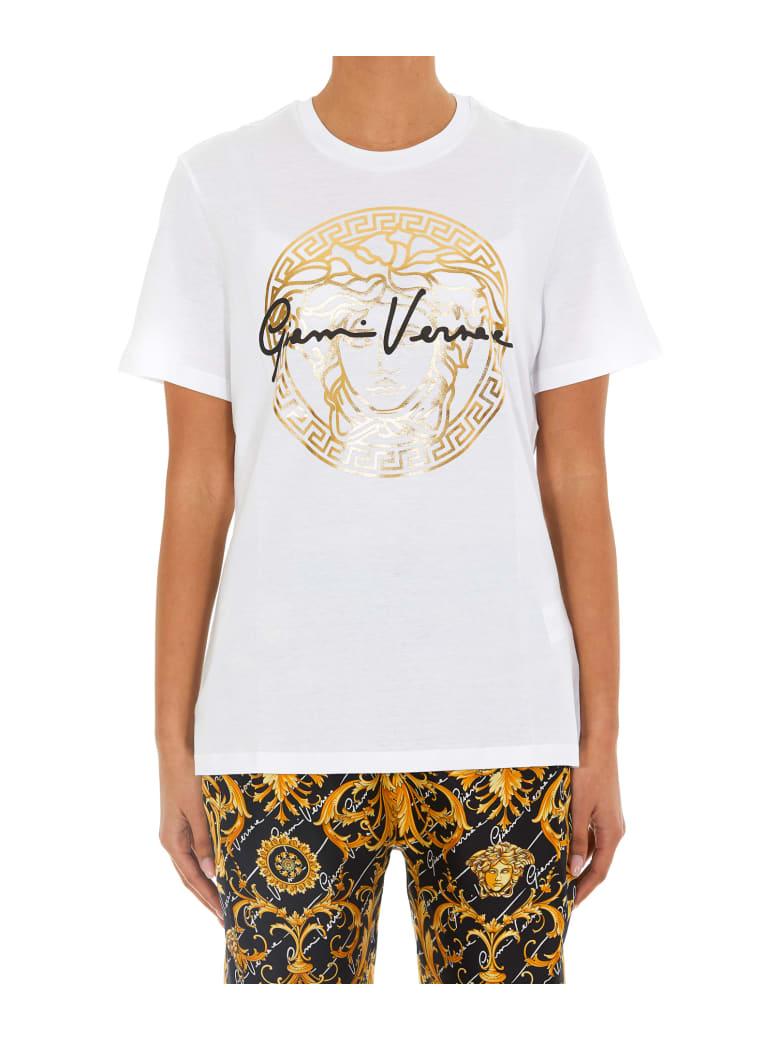 Versace Medusa Signature Motif T- Shirt - White