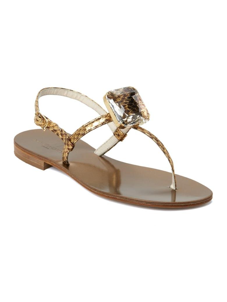 Emanuela Caruso Handmade Flat Flip Flops - Bronzo