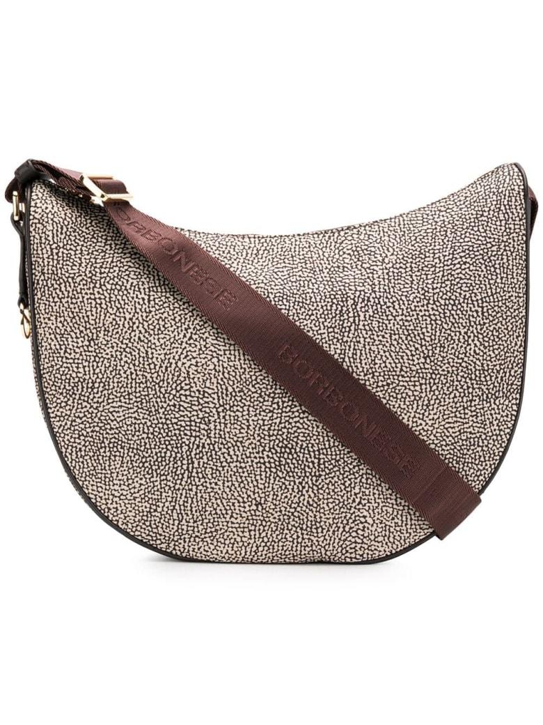 Borbonese Luna Shoulder Bag - Op Classico/marrone